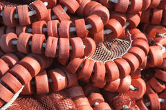 Fishing net in the port of Ares Royalty Free Stock Photo