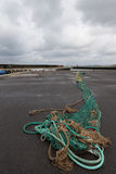 Fishing net on the quay Stock Image