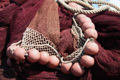 Fishing net, red. royalty free stock photos