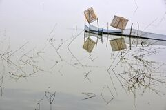 Fishing net reflection abstract photography