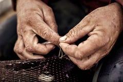 Fishing Net Repair Stock Photography