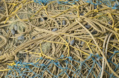 Fishing net rope background Royalty Free Stock Photos