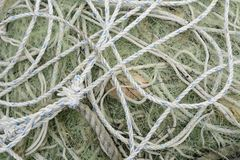 Fishing net and rope Royalty Free Stock Photography