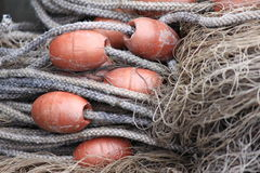Fishing net ane ropes Royalty Free Stock Images