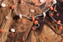 Fishing Net with Ropes and Floats Royalty Free Stock Photo