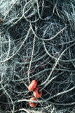 Fishing Net with Ropes and Floats Stock Image