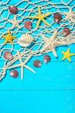Fishing net and seashells Royalty Free Stock Photo