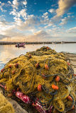 Fishing net in Sicily Royalty Free Stock Photos