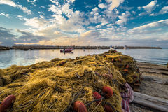 Fishing net in Sicily Royalty Free Stock Image
