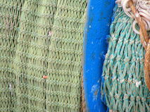 Fishing Net. A fishing net spread on ground royalty free stock photos
