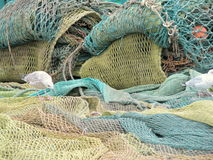 Fishing Net. A fishing net spread on ground stock images