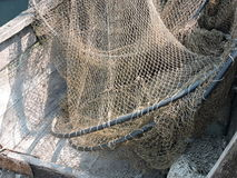 Fishing net texture. Fishing net in boat, can use as background royalty free stock photo