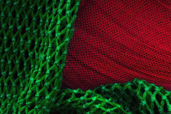 Fishing net texture. With vivid colors Stock Photography