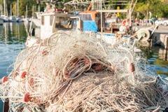Fishing net to dry Stock Image