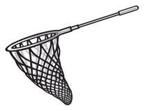 Fishing net. Fishing tool, fish net, fish scoop stock illustration