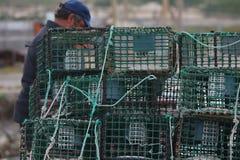 Fishing net traps Stock Photography