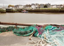 Fishing Net, Trouville (Normandy France). Stock Images