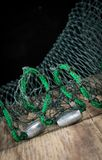 Fishing net weights Stock Image