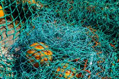 Fishing net at West bay royalty free stock photography