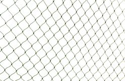 Fishing net on white background. Closeup view stock photography