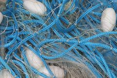 Fishing Nets. At local fish market in Rio de Janeiro, Brazil stock image