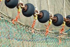 Fishing Nets. Closeup of Fishing Nets on a fishing trawler royalty free stock photos
