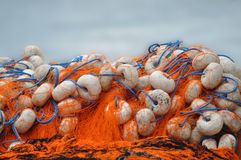 Fishing nets. A bunch of fishing nets royalty free stock images
