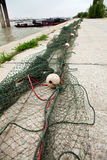 Fishing nets. Seafood fishermen fishing with nets royalty free stock image