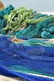 Fishing nets. At Spanish mediterranean harbour Stock Photo