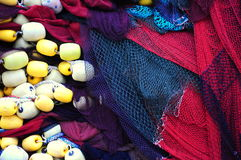 Fishing nets. Colorful fishing nets as a background stock photo