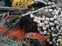 Fishing nets. Close-up of empty fishing nets piled up stock image
