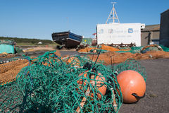 Fishing nets in Ardglass harbour Royalty Free Stock Photos