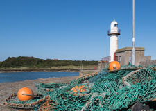 Fishing nets in Ardglass harbour Royalty Free Stock Photography