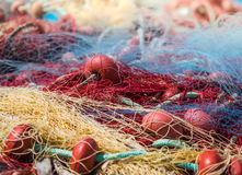 Fishing nets background Royalty Free Stock Photography