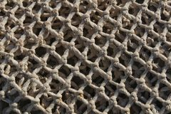 Fishing nets background in the port. Of Santa Pola, Alicante Stock Photos