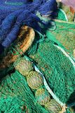 Fishing nets background in the port. Of Santa Pola, Alicante Royalty Free Stock Photos
