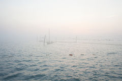 Fishing Nets on the Black Sea. Early in the morning Royalty Free Stock Photos