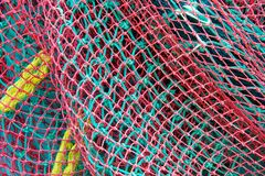 Fishing nets on boat Stock Images