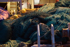 Fishing nets. In a fishing boat in Norway Royalty Free Stock Photos