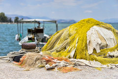 Fishing Nets and Boats Royalty Free Stock Images