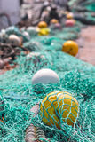 Fishing nets and buoys Stock Image