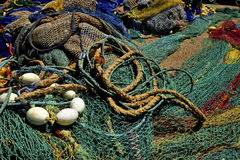Fishing nets in Cala Rajada harbour, Mallorca, Spain, Stock Photos