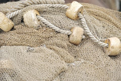 Fishing nets closeup Stock Photos