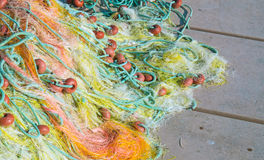 Fishing nets closeup. Background of fishing nets Royalty Free Stock Images