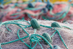 Fishing nets closeup. Royalty Free Stock Image