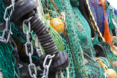 Fishing Nets 1. Fishing nets collected at fishing village Royalty Free Stock Photo