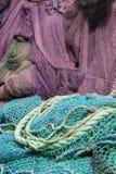 Fishing nets. Colorful fishing nets at rumeli kavağı on the bosphorus, istanbul, turkey royalty free stock photo