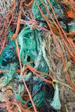 Fishing nets and debris royalty free stock image