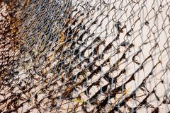 Fishing nets decorated stock images