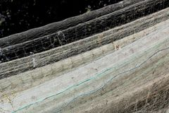 Fishing nets drying Royalty Free Stock Photo